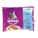 WHISKAS alimento para gatos sabores del mar bolsa 4 x 100 gr