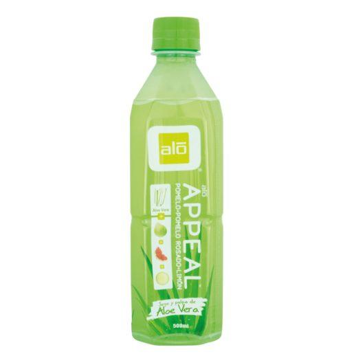 APPEAL bebida de aloe vera con pomelo y limón botella 50 cl