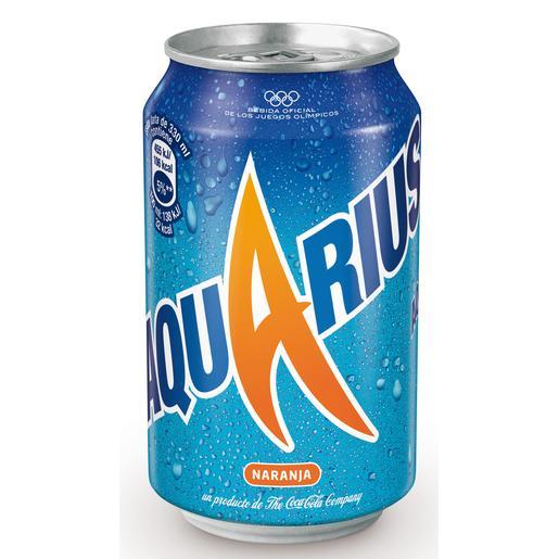 AQUARIUS bebida refrescante aromatizada naranja lata 33 cl