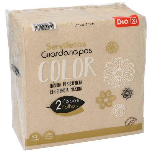 DIA servilletas color 2 capas 33x33 cm paquete 50 uds