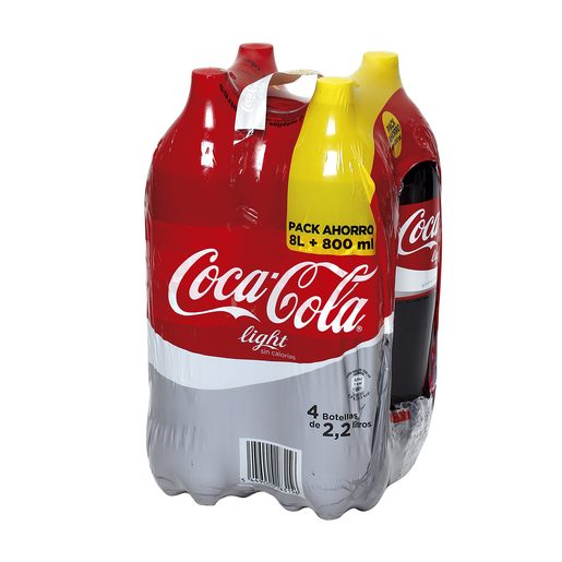 COCA COLA light pack 4 botellas 2 lt