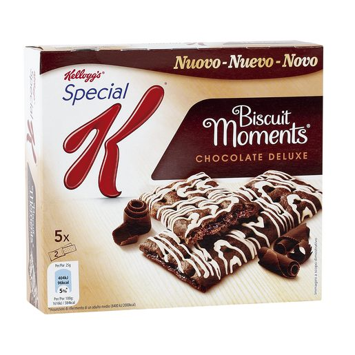 KELLOGG`S barritas special k biscuit moments chocolate deluxe caja 125 gr