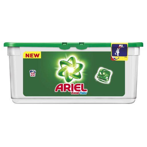 ARIEL Excel tabs detergente máquina en cápsulas 32 uds