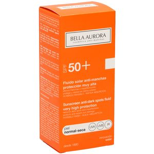 BELLA AURORA fluido solar antimanchas spf 50+ piel normal-seca bote 50 ml