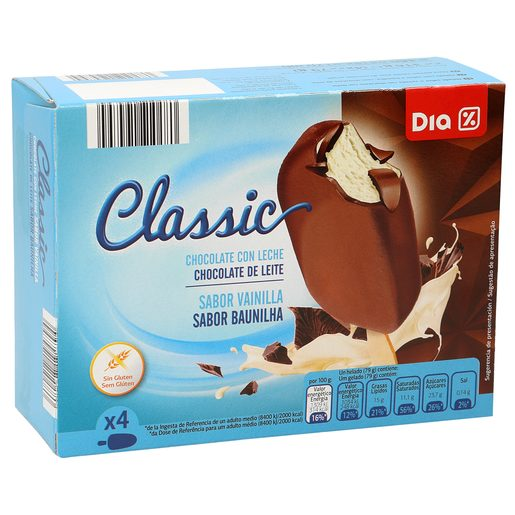 DIA helado bombón chocolate caja 4 uds 334 gr