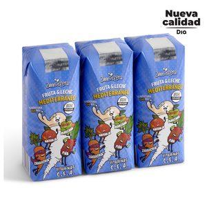 DIA ZUMOSFERA bebida de frutas con leche mediterráneo pack 3 unidades 330 ml
