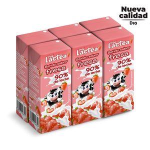 DIA LACTEA batido de fresa pack 6 unidades 200 ml