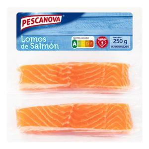 PESCANOVA lomos de salmón envase 250 gr
