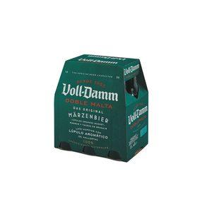 VOLL-DAMM cerveza doble malta pack 6 botellas 25 cl