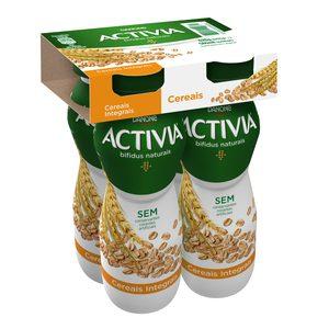 ACTIVIA yogurt líquido con cereales pack 4 unidades 155 gr