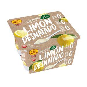 REINA yogur de limón desnatado triple cero pack 4 uds 125 gr