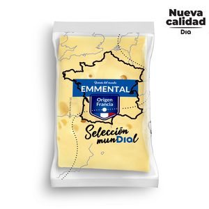 DIA SELECCION MUNDIAL queso emmental francés cuña (peso aprox. 400 gr)