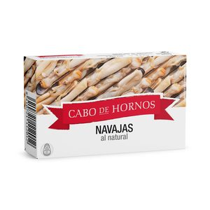CABO DE HORNOS navajas al natural lata 63 gr