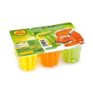 REINA gelatina multifrutas, limón y naranja pack 6 unidades 100 gr