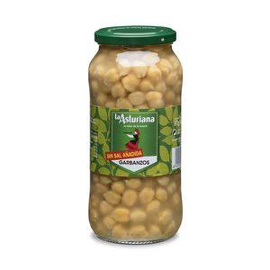 LA ASTURIANA garbanzo cocido sin sal frasco 400 gr