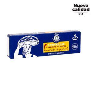 DIA MARI MARINERA sardinillas en aceite picante pack 2 latas de 62 gr