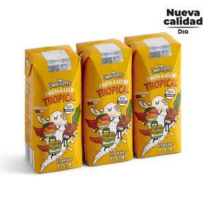 DIA ZUMOSFERA bebida de frutas con leche tropical pack 3 unidades 330 ml