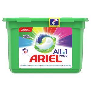 ARIEL Pods detergente máquina todo en uno en cápsulas 18 uds