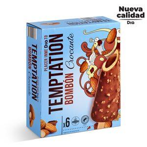 DIA TEMPTATION helado bombón crocante caja 6 uds 378 gr
