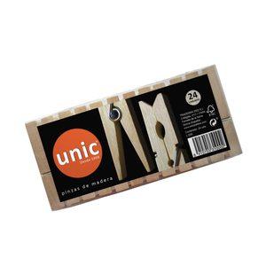 UNIC pinzas de madera para la ropa paquete 24 uds