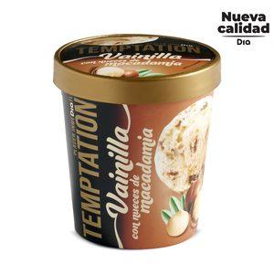 DIA TEMPTATION helado de vainilla con nueces de macadamia tarrina 350 gr