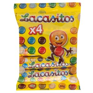 LACASITOS chocolate tubo pack 4 uds 80 gr