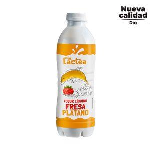 DIA LACTEA yogur líquido sabor fresa y plátano botella 1 lt
